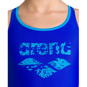 arena Spray Swim Pro Back One Piece Swimsuit Girls neon blue/turquoise